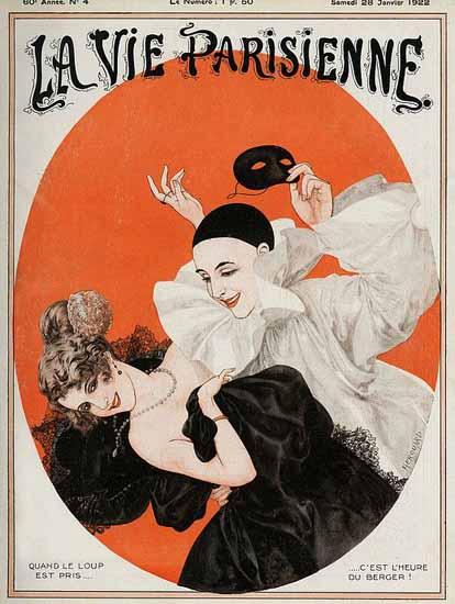Roaring 1920s La Vie Parisienne 1922 L Heur Du Berger | Roaring 1920s Ad Art and Magazine Cover Art