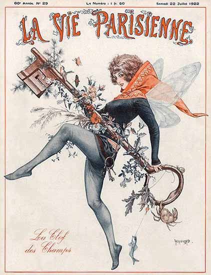 Roaring 1920s La Vie Parisienne 1922 La Clef Des Champs | Roaring 1920s Ad Art and Magazine Cover Art