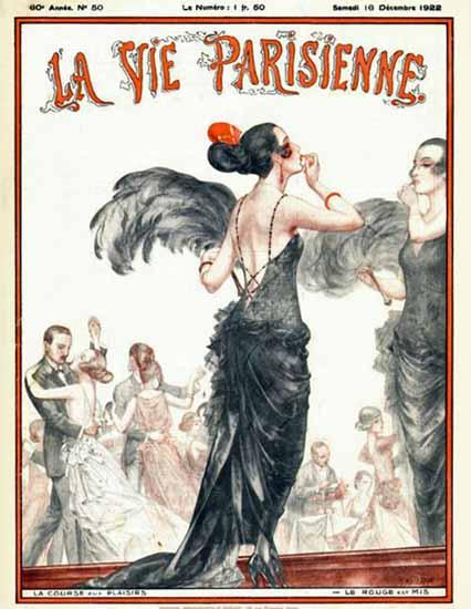 Roaring 1920s La Vie Parisienne 1922 La Course Aux Plaisirs | Roaring 1920s Ad Art and Magazine Cover Art
