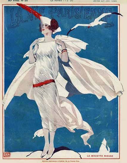 Roaring 1920s La Vie Parisienne 1922 La Mouette Rieuse | Roaring 1920s Ad Art and Magazine Cover Art