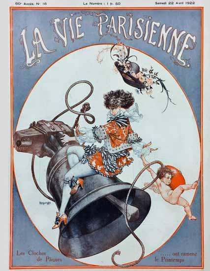 Roaring 1920s La Vie Parisienne 1922 Le Coches De Pagues | Roaring 1920s Ad Art and Magazine Cover Art