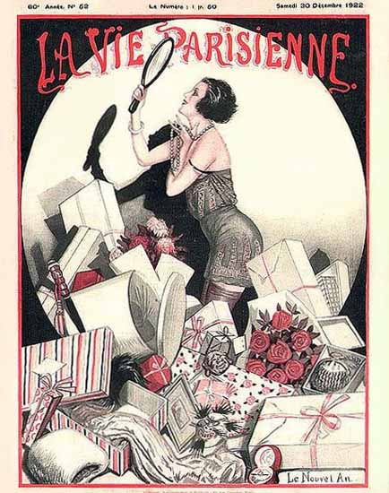 Roaring 1920s La Vie Parisienne 1922 Le Nouvel An 1923 | Roaring 1920s Ad Art and Magazine Cover Art