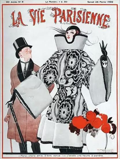 Roaring 1920s La Vie Parisienne 1922 Merci Chere Amie   Roaring 1920s Ad Art and Magazine Cover Art