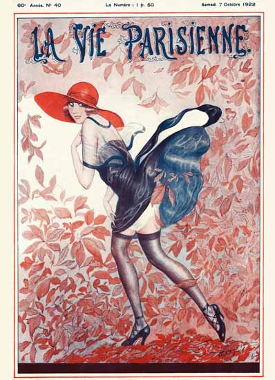Roaring 1920s La Vie Parisienne 1922 Octobre 7 ValdEs   Roaring 1920s Ad Art and Magazine Cover Art