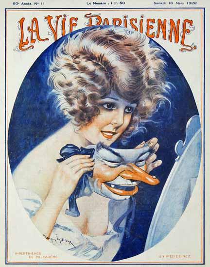 Roaring 1920s La Vie Parisienne 1922 Un Pied De Nez | Roaring 1920s Ad Art and Magazine Cover Art