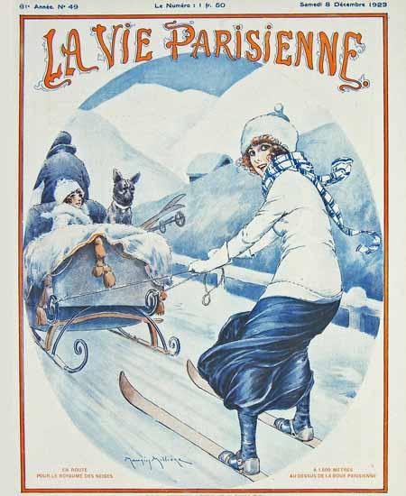 Roaring 1920s La Vie Parisienne 1923 En Route | Roaring 1920s Ad Art and Magazine Cover Art