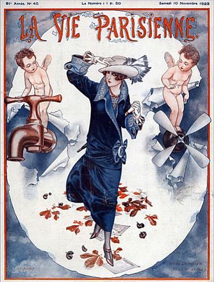 Roaring 1920s La Vie Parisienne 1923 Entre Les Deux | Roaring 1920s Ad Art and Magazine Cover Art