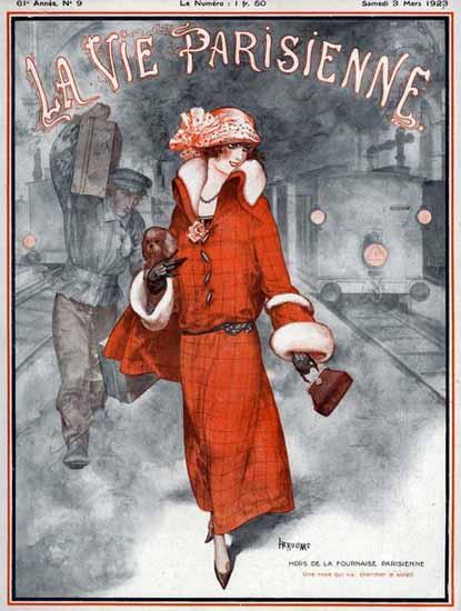 Roaring 1920s La Vie Parisienne 1923 Hors De La Fournaise Parisienne | Roaring 1920s Ad Art and Magazine Cover Art