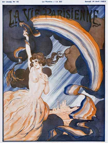 Roaring 1920s La Vie Parisienne 1923 L Arc En Ciel | Roaring 1920s Ad Art and Magazine Cover Art