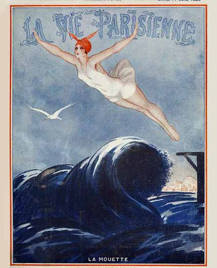 Roaring 1920s La Vie Parisienne 1923 La Mouette | Roaring 1920s Ad Art and Magazine Cover Art