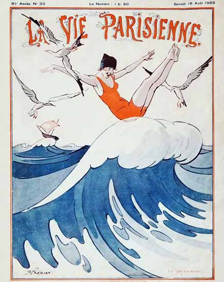 Roaring 1920s La Vie Parisienne 1923 Legere Rene Prejelan | Roaring 1920s Ad Art and Magazine Cover Art