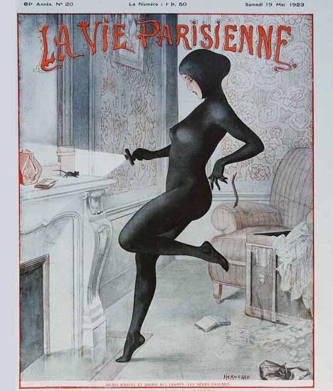 Roaring 1920s La Vie Parisienne 1923 Les Soeurs Ennemies | Roaring 1920s Ad Art and Magazine Cover Art