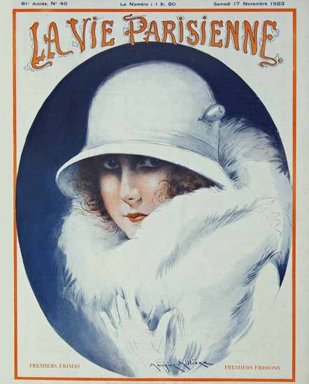 Roaring 1920s La Vie Parisienne 1923 Premiers Frissons | Roaring 1920s Ad Art and Magazine Cover Art
