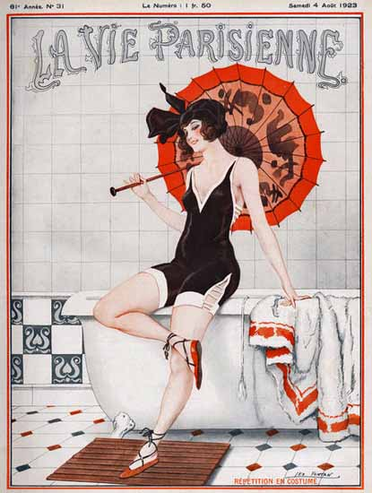 Roaring 1920s La Vie Parisienne 1923 Repetition En Costume | Roaring 1920s Ad Art and Magazine Cover Art