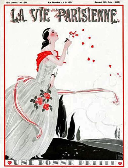 Roaring 1920s La Vie Parisienne 1923 Une Bonne Petite   Roaring 1920s Ad Art and Magazine Cover Art