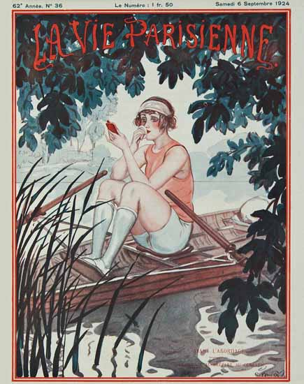 Roaring 1920s La Vie Parisienne 1924 Avant L Abordage | Roaring 1920s Ad Art and Magazine Cover Art