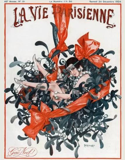 Roaring 1920s La Vie Parisienne 1924 Gai Noel | Roaring 1920s Ad Art and Magazine Cover Art