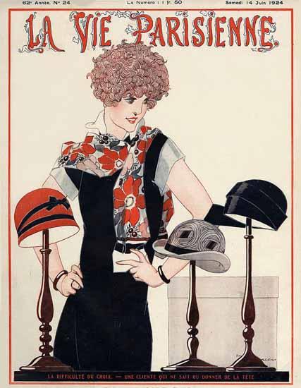 Roaring 1920s La Vie Parisienne 1924 La Difficulte Du Choix | Roaring 1920s Ad Art and Magazine Cover Art