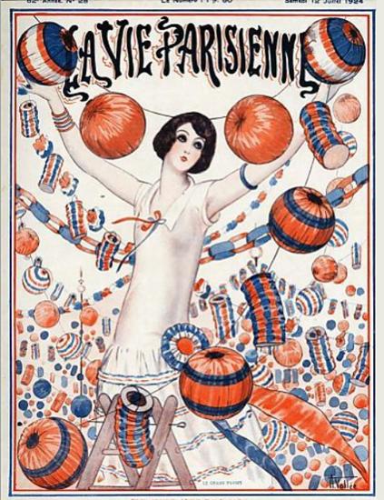Roaring 1920s La Vie Parisienne 1924 La Grande Fete | Roaring 1920s Ad Art and Magazine Cover Art