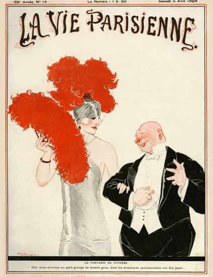 Roaring 1920s La Vie Parisienne 1924 Le Tartarin | Roaring 1920s Ad Art and Magazine Cover Art