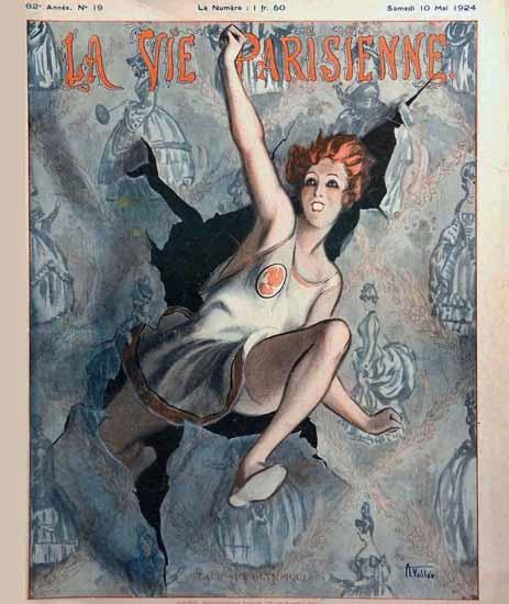 Roaring 1920s La Vie Parisienne 1924 Place Aux Olympiques | Roaring 1920s Ad Art and Magazine Cover Art