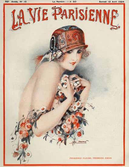 Roaring 1920s La Vie Parisienne 1924 Premiers Emois | Roaring 1920s Ad Art and Magazine Cover Art