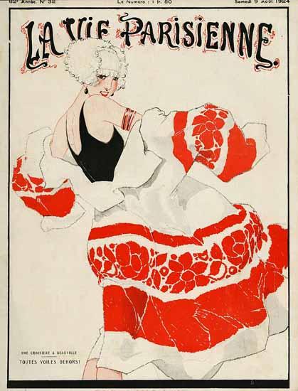 Roaring 1920s La Vie Parisienne 1924 Toutes Voiles Dehors | Roaring 1920s Ad Art and Magazine Cover Art