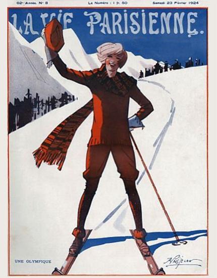 Roaring 1920s La Vie Parisienne 1924 Une Olympique | Roaring 1920s Ad Art and Magazine Cover Art