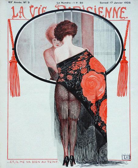Roaring 1920s La Vie Parisienne 1925 Bien Au Teint Georges Leonnec | Roaring 1920s Ad Art and Magazine Cover Art