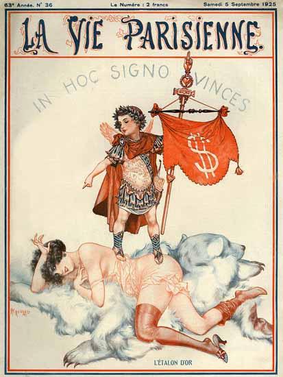 Roaring 1920s La Vie Parisienne 1925 In Hoc Signo Vinces | Roaring 1920s Ad Art and Magazine Cover Art