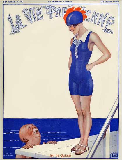 Roaring 1920s La Vie Parisienne 1925 Jeu De Quilles | Roaring 1920s Ad Art and Magazine Cover Art