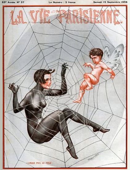 Roaring 1920s La Vie Parisienne 1925 L Amour Pris | Roaring 1920s Ad Art and Magazine Cover Art