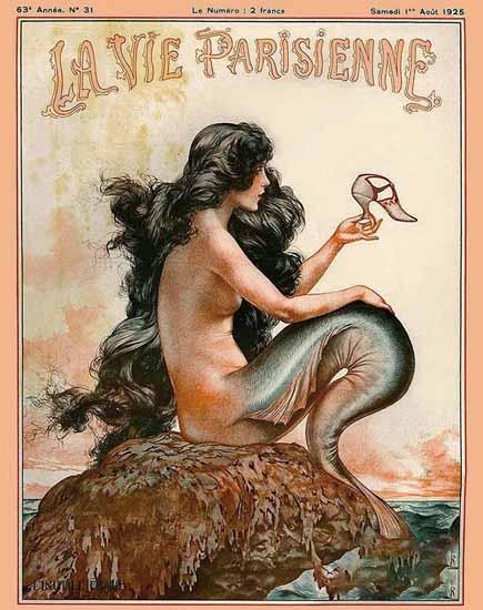 Roaring 1920s La Vie Parisienne 1925 L Inutile Epave   Roaring 1920s Ad Art and Magazine Cover Art