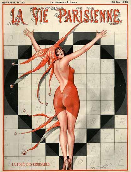 Roaring 1920s La Vie Parisienne 1925 La Folie Des Croisades | Roaring 1920s Ad Art and Magazine Cover Art