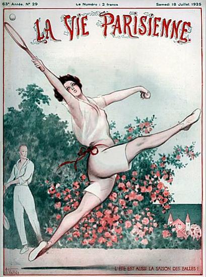 Roaring 1920s La Vie Parisienne 1925 La Saison Des Balles | Roaring 1920s Ad Art and Magazine Cover Art