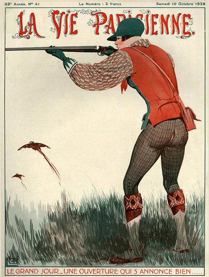 Roaring 1920s La Vie Parisienne 1925 Le Grand Jour Georges Leonnec | Roaring 1920s Ad Art and Magazine Cover Art