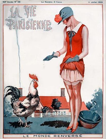 Roaring 1920s La Vie Parisienne 1925 Le Monde Renverse | Roaring 1920s Ad Art and Magazine Cover Art