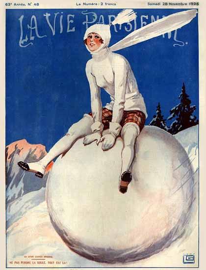 Roaring 1920s La Vie Parisienne 1925 Ne Pas Perdre La Boule | Roaring 1920s Ad Art and Magazine Cover Art