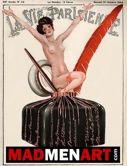 Roaring 1920s La Vie Parisienne 1925 Octobre 31 MMA | Roaring 1920s Ad Art and Magazine Cover Art