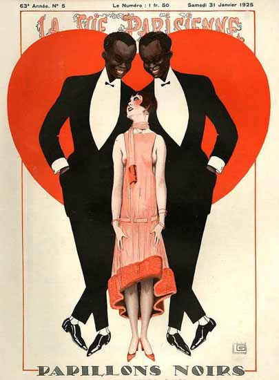 Roaring 1920s La Vie Parisienne 1925 Papillons Noirs | Roaring 1920s Ad Art and Magazine Cover Art