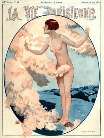 Roaring 1920s La Vie Parisienne 1925 Sortie Du Nid | Roaring 1920s Ad Art and Magazine Cover Art