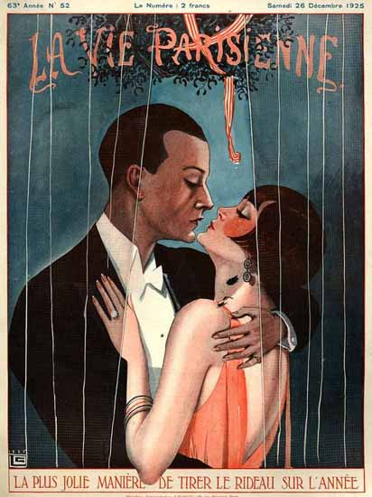 Roaring 1920s La Vie Parisienne 1925 Tirer Le Rideau | Roaring 1920s Ad Art and Magazine Cover Art
