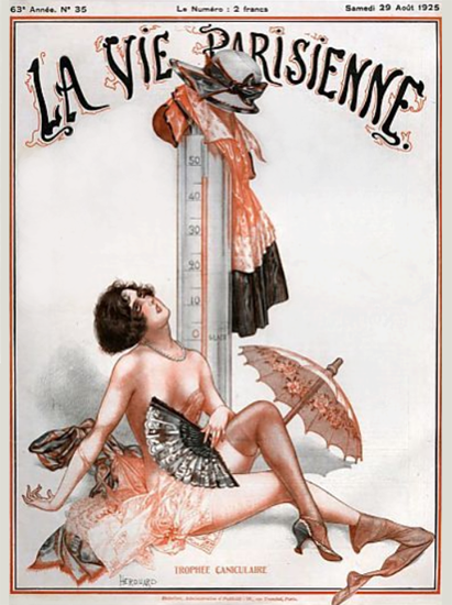Roaring 1920s La Vie Parisienne 1925 Trophee Caniculaire | Roaring 1920s Ad Art and Magazine Cover Art
