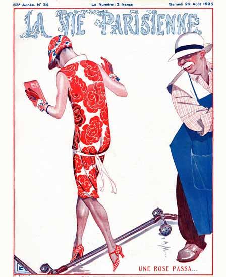 Roaring 1920s La Vie Parisienne 1925 Une Rose Passa | Roaring 1920s Ad Art and Magazine Cover Art