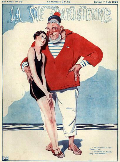 Roaring 1920s La Vie Parisienne 1926 Aout 7 Georges Leonnec | Roaring 1920s Ad Art and Magazine Cover Art