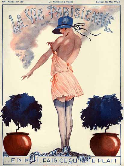 Roaring 1920s La Vie Parisienne 1926 Fais Que Te Plait | Roaring 1920s Ad Art and Magazine Cover Art