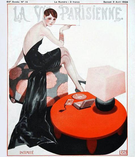 Roaring 1920s La Vie Parisienne 1926 Intimite Georges Leonnec   Roaring 1920s Ad Art and Magazine Cover Art