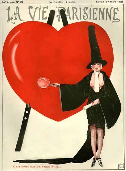 Roaring 1920s La Vie Parisienne 1926 Je Vais Parler | Roaring 1920s Ad Art and Magazine Cover Art