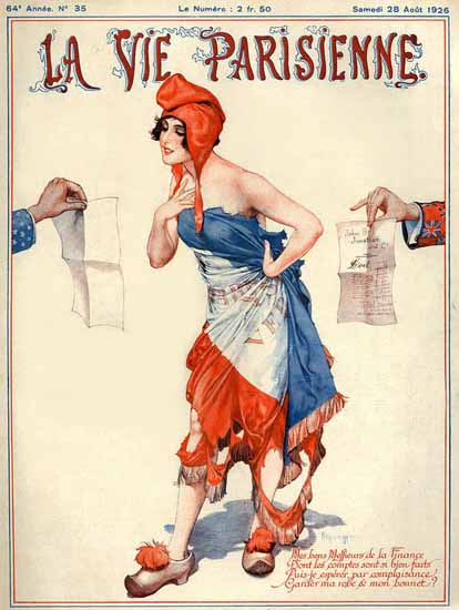 Roaring 1920s La Vie Parisienne 1926 La Finance | Roaring 1920s Ad Art and Magazine Cover Art