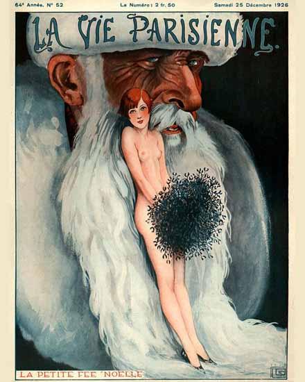 Roaring 1920s La Vie Parisienne 1926 La Petite Fee Noelle | Roaring 1920s Ad Art and Magazine Cover Art